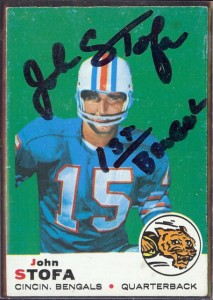 autographed 1969 topps john stofa