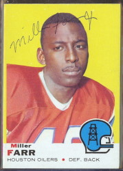 autographed 1969 topps miller farr