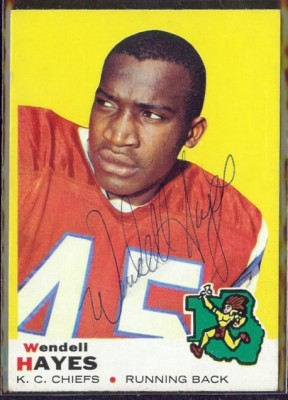 autographed 1969 topps wendell hayes