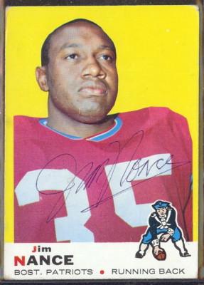 autographed 1969 topps jim nance