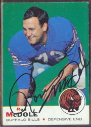 autographed 1969 topps ron mcdole
