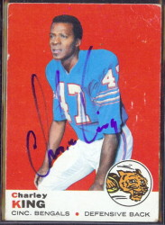 autographed 1969 topps charley king