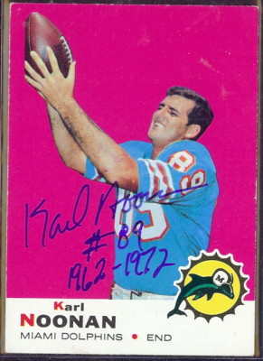 autographed 1969 topps karl noonan