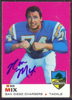 autographed 1969 topps ron mix