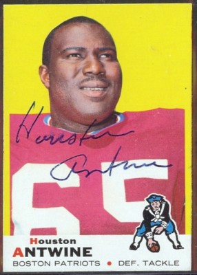 autographed 1969 topps houston antwine