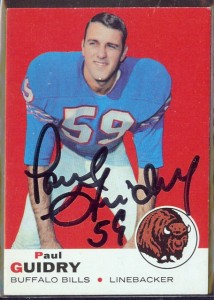 autographed 1969 topps paul guidry
