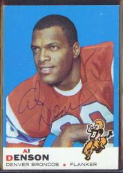 autographed 1969 topps al denson