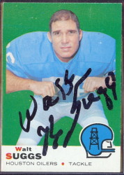 autographed 1969 topps walt suggs