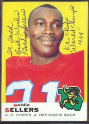 autographed 1969 topps goldie sellers