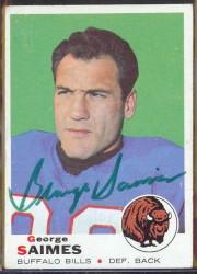 autographed 1969 topps george saimes