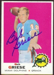 autographed 1969 topps bob griese