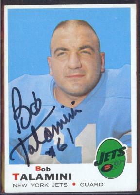 autographed 1969 topps bob talamini