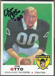 autographed 1969 topps jim otto