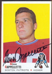 autographed 1969 topps gino cappelletti