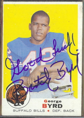 autographed 1969 topps george byrd
