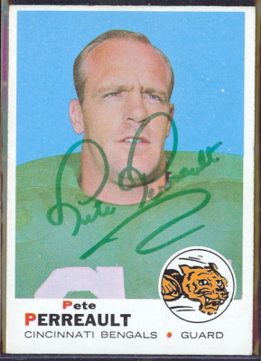 autographed 1969 topps pete perrault