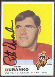 autographed 1969 topps pete duranko