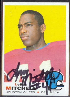 autographed 1969 topps leroy mitchell