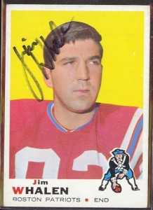 autographed 1969 topps jim whalen