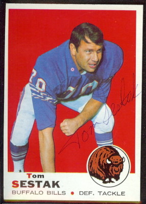 autographed 1969 topps tom sestak