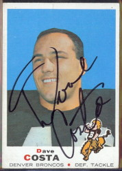 autographed 1969 topps dave costa