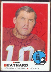 autographed 1969 topps pete beathard
