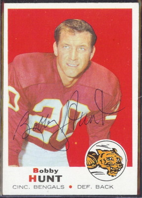 autographed 1969 topps bobby hunt