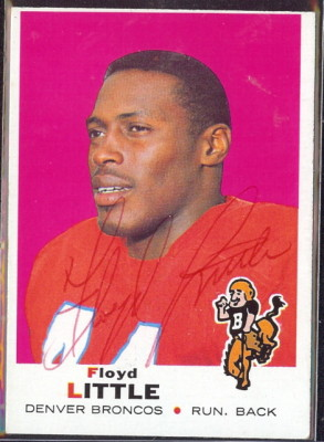 autographed 1969 topps floyd little
