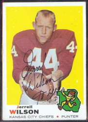 autographed 1969 topps jerrell wilson