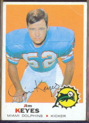 autographed 1969 topps jim keyes