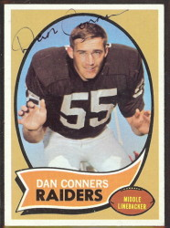 autographed 1970 topps dan conners