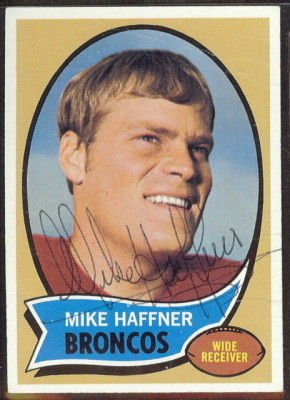autographed 1970 topps mike haffner
