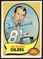 autographed 1970 topps jim beirne