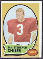 autographed 1970 topps jan stenerud