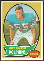 autographed 1970 topps randy edmunds