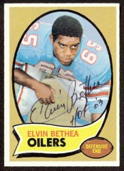 autographed 1970 topps elvin bethea