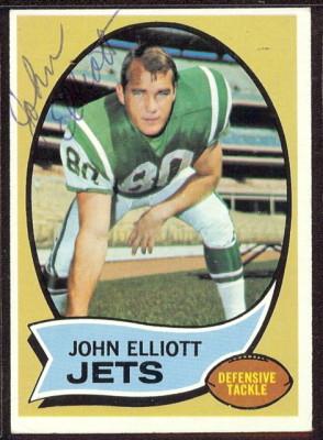autographed 1970 topps john elliott