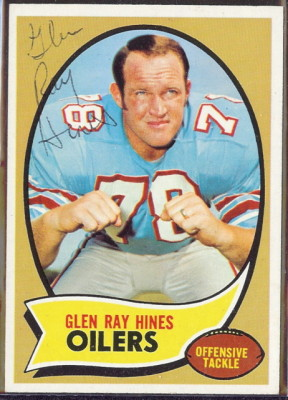 autographed 1970 topps glen ray hines