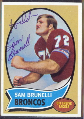 autographed 1970 topps sam brunelli
