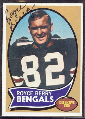autographed 1970 topps royce berry