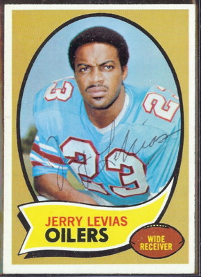 autographed 1970 topps jerry levias