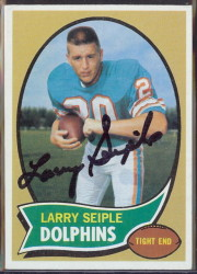 autographed 1970 topps larry seiple