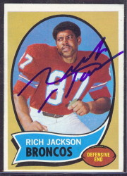 autographed 1970 topps rich jackson