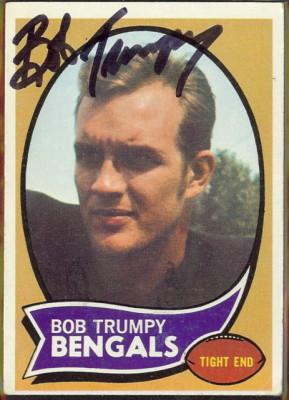 autographed 1970 topps bob trumpy