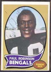 autographed 1970 topps paul robinson