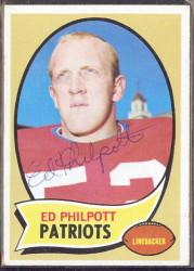 autographed 1970 topps ed philpott