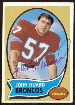 autographed 1970 topps john huard