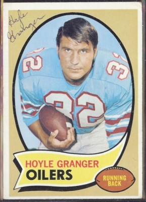 autographed 1970 topps hoyle granger