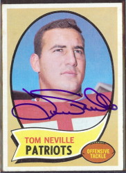 autographed 1970 topps tom neville