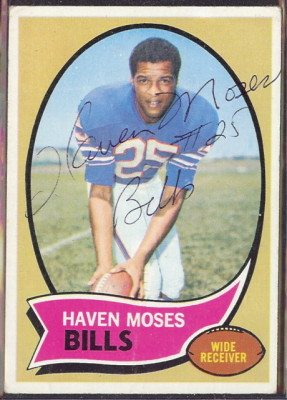 autographed 1970 topps haven moses